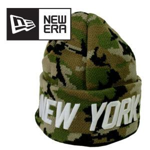 迷彩 ニット帽 ロゴ NEW ERA ニューエラ カモフラージュ ワンサイズ ニットキャップ ニューヨーク 刺繍 カーキ 人気 ブランド 11233666 mitoman