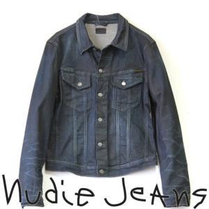 Nudie Jeans ヌーディージーンズ PERRY ペリー USED DENIM JKT ユーズド加工デニムジャケット BLACK ON INDIGO TIGHT 3rd TYPE MODEL ジージャン 40161-5019|mitoman