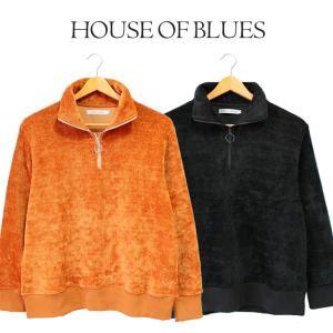 リングジップ ニット メンズ House Of Blues ハウスオブブルース 男性 ファスナー チャック シンプル 無地 人気 ブランド 1824161|mitoman