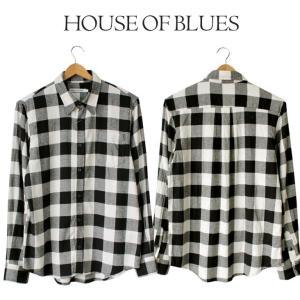 チェック ネルシャツメンズ House Of Blues ハウスオブブルース 男性 ビエラシャツ ブロックチェック シンプル 定番 人気 ブランド 1825010|mitoman