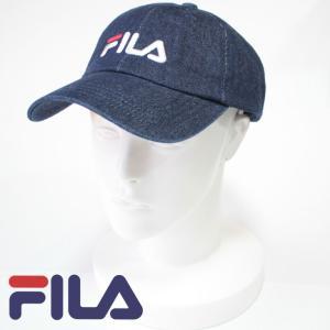 FILA フィラ CAP ローキャップ メンズ レディース  デニム DENIM 刺繍 LOWCAP ワンポイト シンプル アウトドア フェス 野球帽子 熱中症対策 通学 mitoman