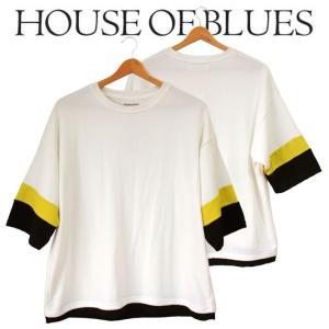 HOUSE OF BLUES ハウスオブブルース メンズ 5分袖 Tシャツ|mitoman