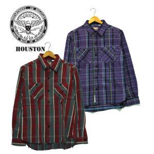 HOUSTON ヒューストン チェックネルシャツ チェック ネル 長袖 シャツ アメカジ ミリタリー|mitoman