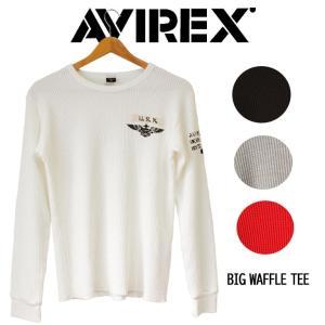 AVIREX  avirex アビレックス 長袖 メンズ クルーネック Tシャツ サーマル ワッフル...