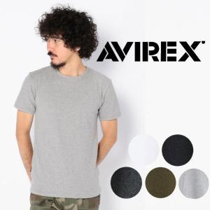 AVIREX デイリー クルーネック 半袖 Tシャツ 無地  ホワイト グレー ブラック メンズ アビレックス アヴィレックス インナー|mitoman