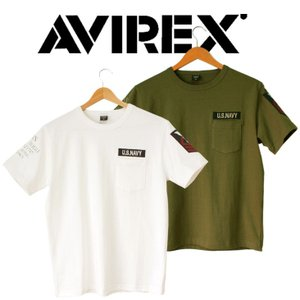 AVIREX アヴィレックス  Tシャツ 半袖 メンズ NAVAL PATCH CREW NECK T-SHIRT|mitoman