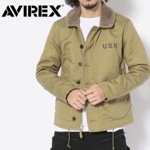 N-1 デッキジャケット アヴィレックス メンズ PLANE JACKET AVIREX アウター ジャケット 防寒 冬 暖かい 人気 ブランド カーキ プレゼント 6182174|mitoman