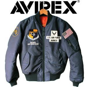AVIREX ジャケット 新作 maー1 フライトジャケット アビレックス SPACE COMMAND エムエーワン スペースコマンド アメカジ ミリタリー ワッペン|mitoman