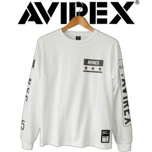 長袖tシャツ メンズ ブランド AVIREX アヴィレックス L/S SLEEVE LOGO & N.Y.C. T-SHIRT ミリタリー ストリート アビレックス|mitoman