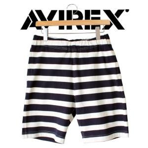AVIREX アビレックス  ショートパンツ メンズ  ボーダー  半ズボン|mitoman