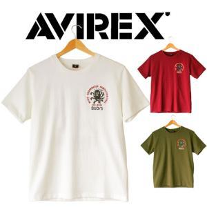AVIREX アビレックス  Tシャツ 半袖  メンズ EMB CREW NECK T-SHIRT|mitoman