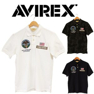 AVIREXアビレックス NAVY SEALS POLO SHIRT 刺繍 ポロ U.S.NAVY ミリタリー アヴィレックス ポロシャツ 半袖 メンズ|mitoman
