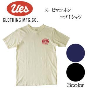 UES ウエス スーピマコットン S/S Tee 半袖Tシャツ ロゴ アメカジ オーガニック シンプル made in JAPAN 日本製 651829|mitoman
