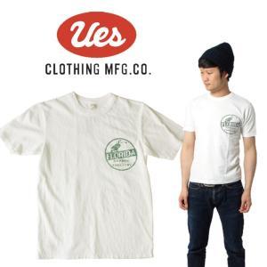 UES ウエス FLORIDA BIRD  S/S Tee 半袖Tシャツ ロゴ アメカジ オーガニック シンプル made in JAPAN 日本製 651825 白 ホワイト|mitoman