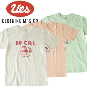UES ウエス SO CAL 車 S/S Tee 半袖Tシャツ ロゴ アメカジ オーガニック シンプル made in JAPAN 日本製 651829|mitoman