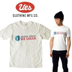 UES ウエス ICE CREAM S/S Tee 半袖Tシャツ ロゴ アメカジ オーガニック シンプル made in JAPAN 日本製 651832|mitoman