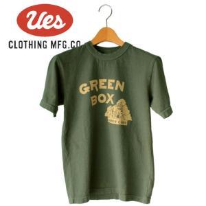 メンズ GREEN BOX Tシャツ アメカジ オーガニック シンプル 半袖 made in JAPAN 日本製|mitoman