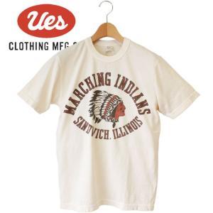 メンズ UES INDIANS Tシャツ アメカジ オーガニックコットン シンプル 半袖 made in JAPAN 日本製|mitoman