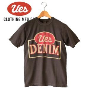 メンズ UES DENIM Tシャツ アメカジ オーガニックコットン シンプル 半袖 made in JAPAN 日本製|mitoman