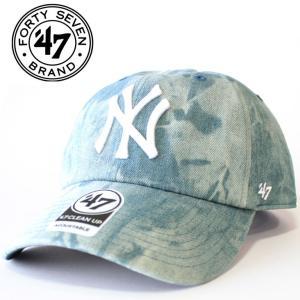 ローキャップ  クリーンナップ メンズ レディース ブルー ニューヨーク ヤンキース 47'brand フォーティセブンスナップバック 刺繍 mitoman