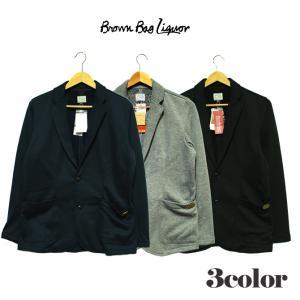 BROWN BAG LIQUOR ブラウンバッグリカー シャギースウェットテーラードジャケット ネイビー グレー ブラック アウター トップス|mitoman