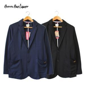BROWN BAG LIQUOR ブラウンバッグリカー テーラードジャケット ネイビー ブラック トップス アウター|mitoman