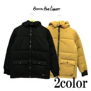 BROWN BAG LIQUOR ブラウンバッグリカー  中綿ジャケット ブラック アウター コート|mitoman