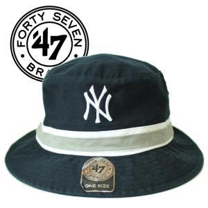 47 Brand フォーティセブンブランド ヤンキース バケットハット ネイビー メンズ レディース フリーサイズ mitoman