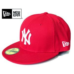 NEWERA ニューエラ 59FIFTY B.Bキャップ ニューヨーク・ヤンキース レッド×ホワイト mitoman
