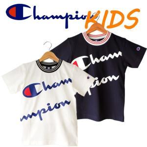 Champion チャンピオン kids キッズ 子供服 半袖 Tシャツ ロゴ 綿100%|mitoman