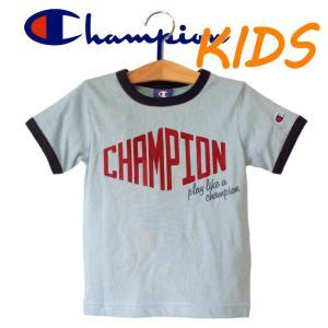 Champion チャンピオン kids キッズ 子供服 リンガー 半袖 Tシャツ ロゴ|mitoman