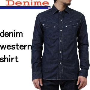 Denime ドゥニーム DNM SMILE SHIRTS デニム ウエスタンシャツ 長袖シャツ インディゴ made in JAPAN 日本製 デニムシャツ D011D1103026|mitoman