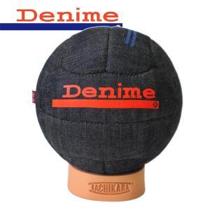 TACHIKARA×Denime 50s SOCCER BALL タチカラ×ドゥニーム 50sデニムサッカーボール コラボ 限定 インテリア 日本製 12面体 4号球|mitoman