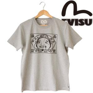 EVISU エヴィス メンズ   HINSHITU S/S Tee プリント S/S Tee 半袖Tシャツ  コットン|mitoman