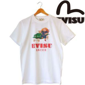 EVISU エヴィス Tシャツ メンズ 半袖 ブランド EVISU RECER WHITE|mitoman
