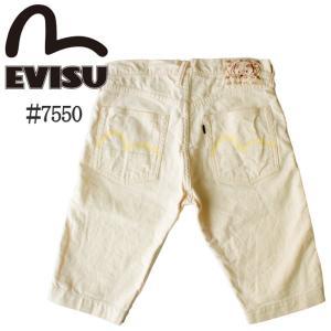 ハーフパンツ メンズ エヴィス EVISU 男性 人気 ブランド ショートパンツ カモメ ロゴ made in JAPAN 日本製 EVC-7550WH EVC7550WH|mitoman