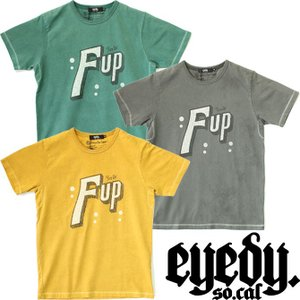 eyedy アイディー 7UP パロディー 半袖Tシャツ ビンテージ 後染め ストリート メンズ スケーター スケボー 西海岸 ワーク ルード|mitoman