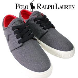 Polo by RalphLauren メンズ 男性 スニーカー 日本未発売 FAXON LOW  カジュアル グレー シンプル 人気 ブランド|mitoman