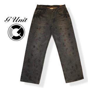 G-UNIT ジーユニット X-BAGGY BLACK JEAN 加工ジーンズ ブラック 黒 ボトムス メンズ|mitoman