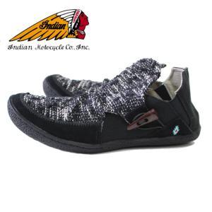 Indian Motocycle インディアン モトサイクル モカシン ショートブーツ ブラック 黒  メンズ レディース スニーカー 靴  IND-11302|mitoman