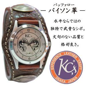 KC'S ケーシーズ ケイシーズ 腕時計 革 レザー 牛革 男女兼用 プレゼント コンチョ インディアン 古銭 バッファロー バイソン革 水牛 父の日|mitoman