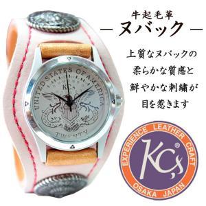 送料無料 KC'S ケーシーズ ケイシーズ 腕時計 革 レザー 牛革 男女兼用 ウィメンズ コンチョ インディアン ヌバック 刺繍|mitoman