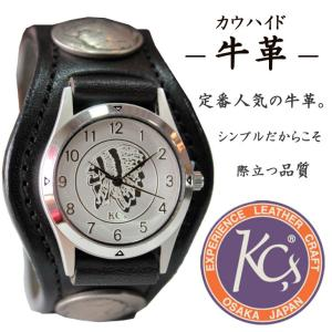 KC'S ケーシーズ ケイシーズ 腕時計 革 レザー 牛革 男女兼用 プレゼント コンチョ インディアン 古銭 シンプル 父の日|mitoman