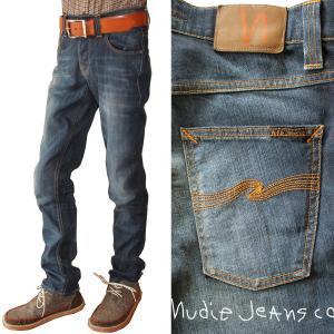 Nudie Jeans ヌーディージーンズ GRIM TIM グリムティム 967 ORG.WHITE KNEE ジーンズ デニム ボトムス メンズ スキニー|mitoman