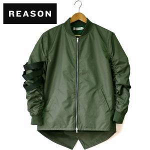 REASON CLOTHING リーズンクロージング MARKSMAN BOMBER MA-1 エムエーワン フライトジャケット 中綿なし 薄手 ミリタリー ロング丈|mitoman
