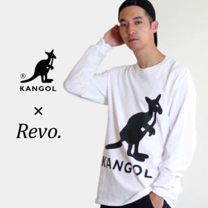 ロゴ 長袖 カンゴール メンズ コラボ KANGOL レヴォ Revo. カンガルー 人気 ブランド スポーティー カジュアル ビックロゴ TH2651|mitoman