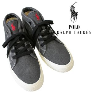 Polo by RalphLauren ラルフローレン メンズ 男性 スニーカー THURLOS-SK-VLC 黒 ブラック キャンバス ミッドカット ロゴ 人気 ブランド|mitoman
