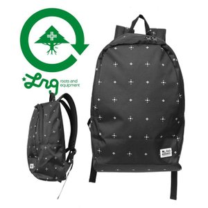 LRG エルアールジー CORE COLLECTION TWO BACKPACK BLACK DITZY ブラック 総柄黒 モノクロ リュックサック バックパック 鞄 旅行 通勤 通学|mitoman