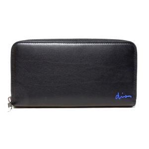 ディオールオム ファスナー長財布 ブラック+ブルー 2SCBC 011WXR H965 Dior Homme|mitoyo