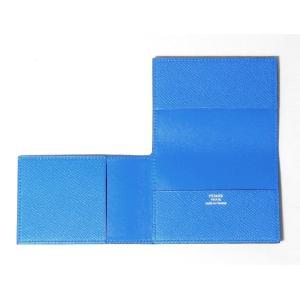 清々しいブルーのカードケース「GUERNESEY」です。フランス製  ■サイズ:約9.8cmX約6....
